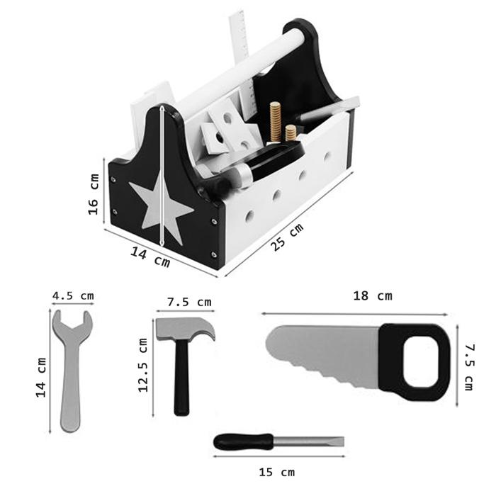 Dimensions de la boite à outils
