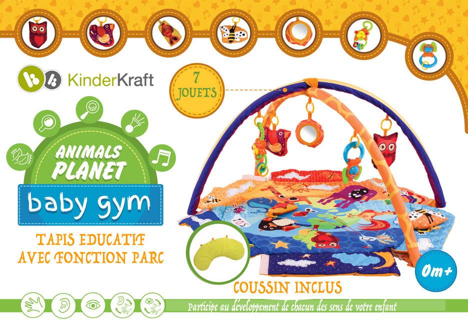 tapis d 39 veil ducatif animals planet fonction parc 7 jouets vente de kinderkraft conforama. Black Bedroom Furniture Sets. Home Design Ideas