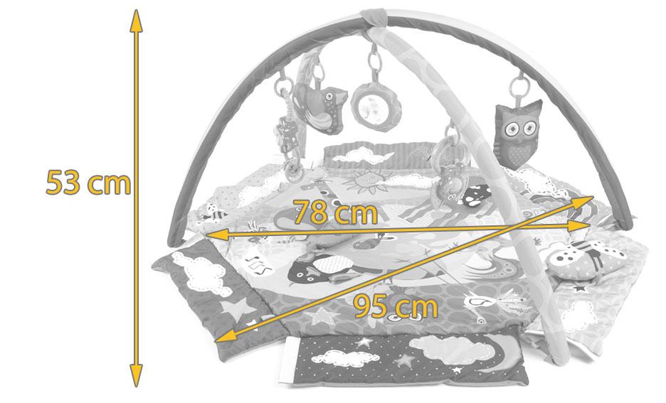animals planet tapis d 39 veil ducatif fonction parc contient 7 jouets multicolore achat. Black Bedroom Furniture Sets. Home Design Ideas
