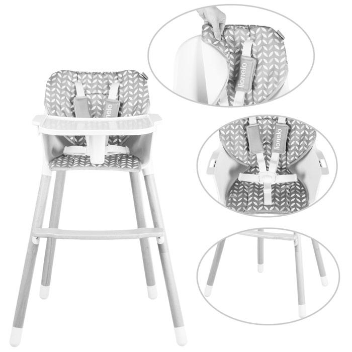 Chaise haute hauteur réglable