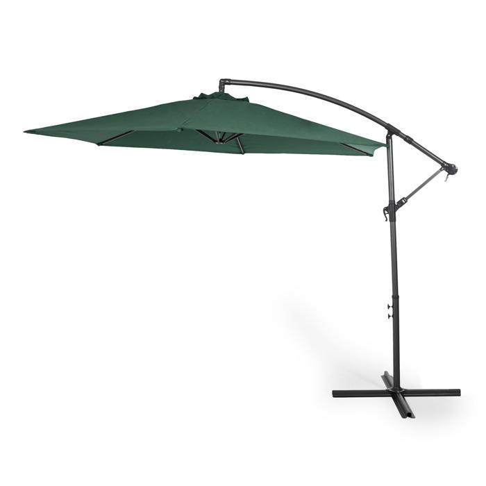 Lumi parasol d port inclinable 3 m tres de diam tre vert - Parasol deporte orientable et inclinable ...