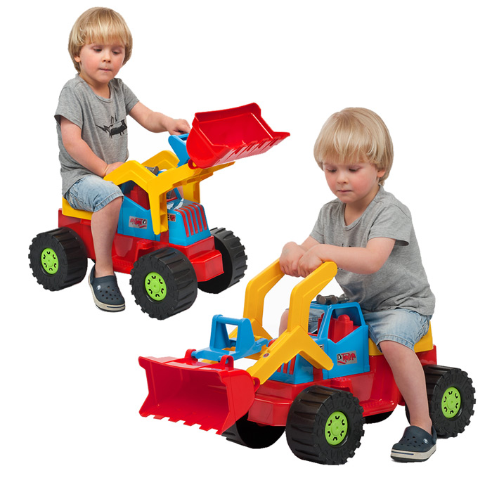 Pousseur pour enfant camion tractopelle