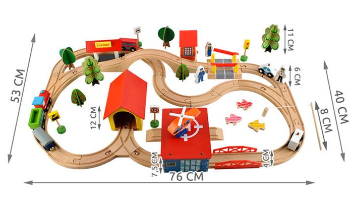 Petit train en bois dimensions