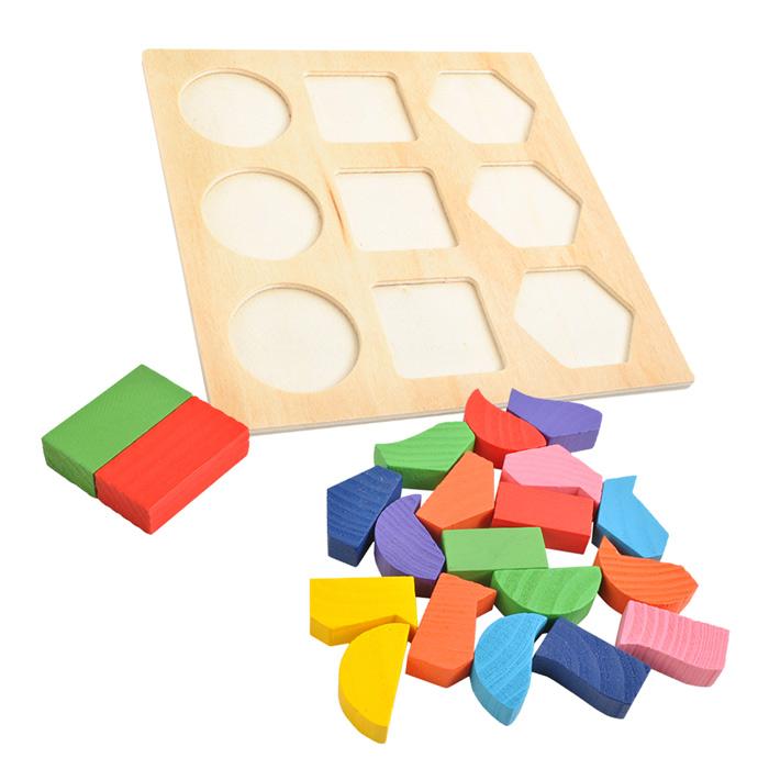 Détails du jeu de puzzle en bois
