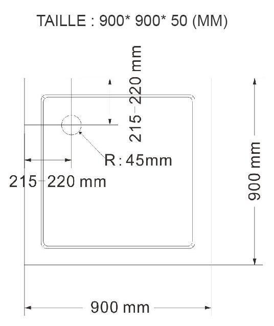 receveur de salle de bain monmobilierdesign receveur bac douche plat antid rapant 90 x 90 cm. Black Bedroom Furniture Sets. Home Design Ideas