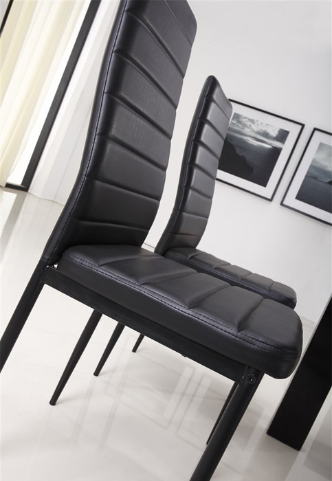 chaises s2 design et ultra confort blanc lot de 6 vente de chaise conforama. Black Bedroom Furniture Sets. Home Design Ideas