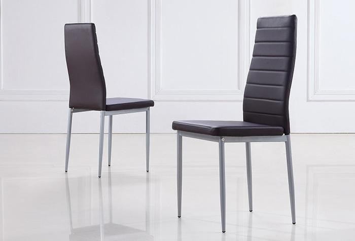 chaises s2 design et ultra confort blanc lot de 6 vente de chaise conforama. Black Bedroom Furniture Sets. Home Design Ideas
