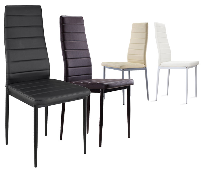 S2 blanc lot de 8 chaises design et ultra confort simili for Les chaises design