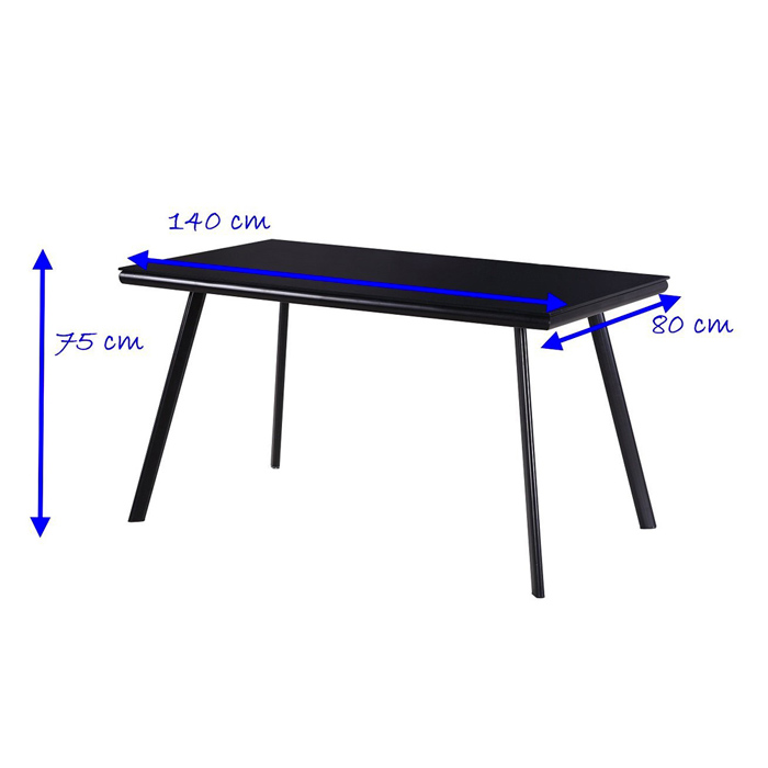 Metal vetro table salle manger ebay - Table a manger dimension ...