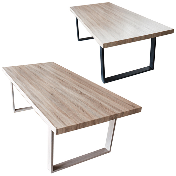 Table de salle manger salon plateau mdf bois 160 x 90 x for Table salon salle a manger