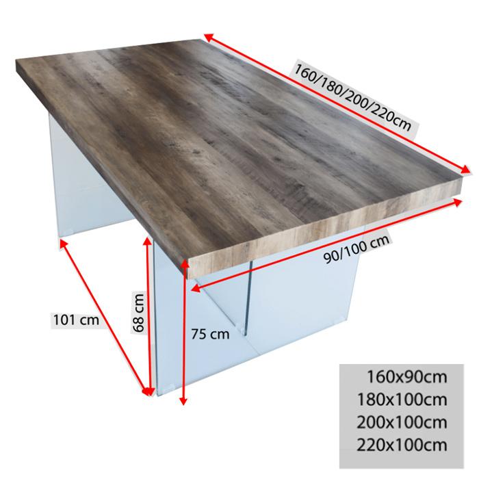 Table  pieds en verre dimensions