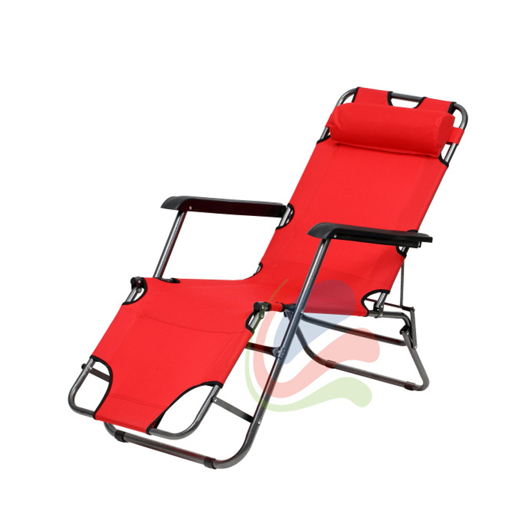Chaise longue transat 3 positions fauteuil pliable jardin for Transat piscine design