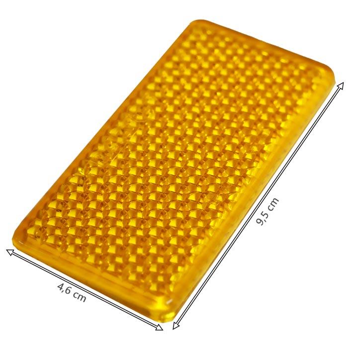 Réflecteur remorque orange