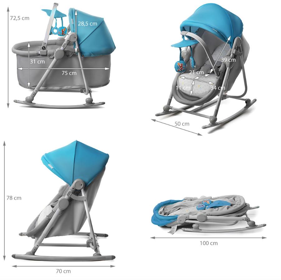 Unimo bleu 5en1 berceau balancelle transat si ge fauteuil b b pliable achat vente for Acheter une balancelle de jardin