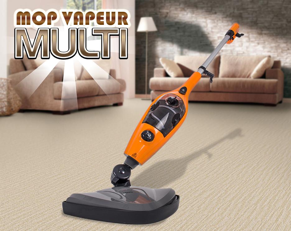 super balai vapeur multi 10 en 1 nettoyeur steam orange vente de siesta design conforama. Black Bedroom Furniture Sets. Home Design Ideas