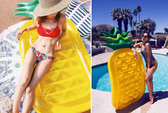 matelas gonflable piscine plage ananas