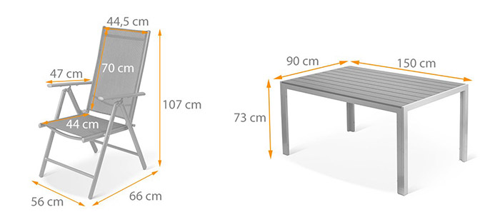 Promo ! Salon de jardin en aluminium Top qualité