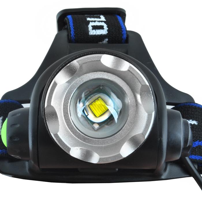 lampe frontale lentille
